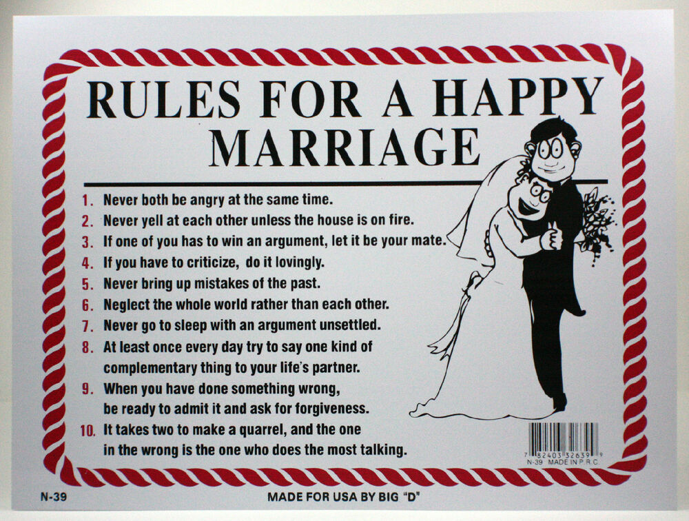 list of open marriage rules