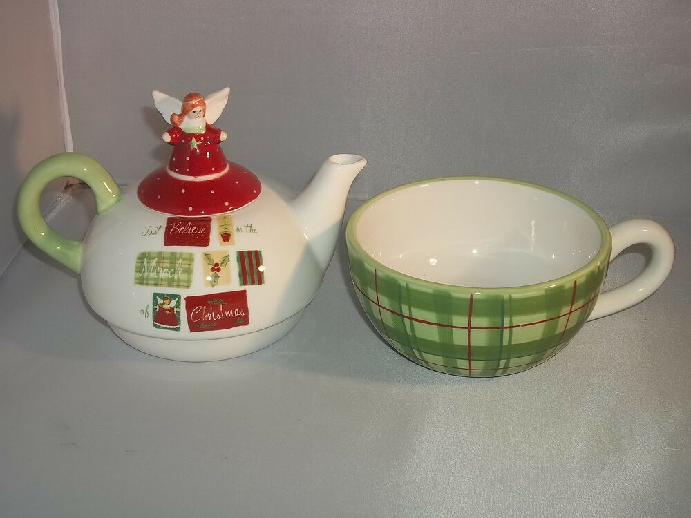 3 gifts of faith porcelain tea pot set angel top pot cup Green tea pot set