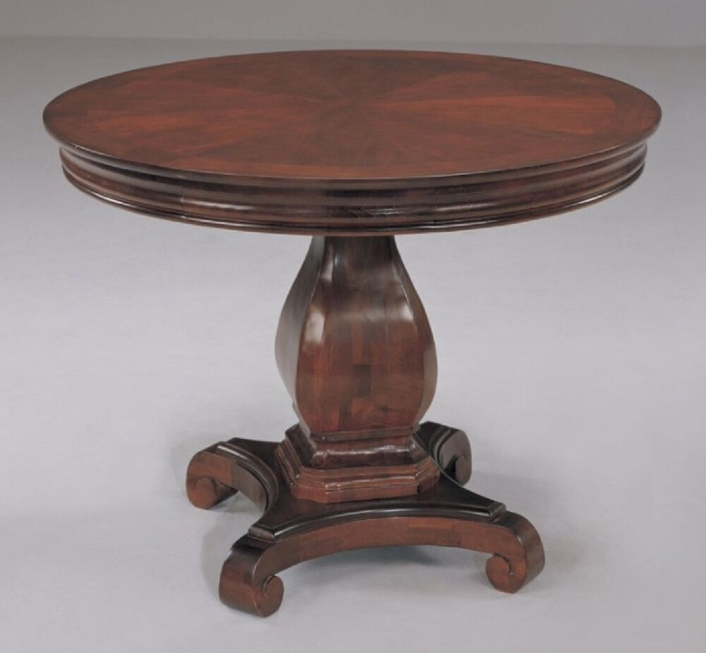 42 inch round conference table pedestal base with scroll feet real cherry wood ebay - Inch round wood table top ...