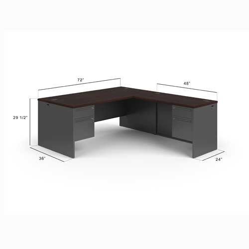 HON 38000 Series Left Handed L Shaped Desk 38LL7284NS | eBay