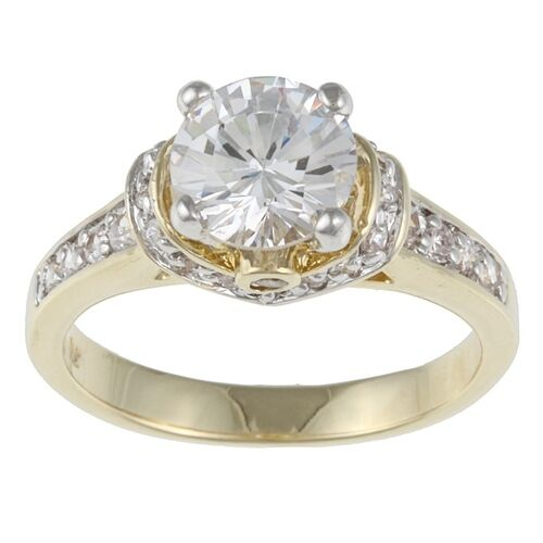 two tone wedding rings kate bissett two tone white cubic zirconia engagement ring 8144
