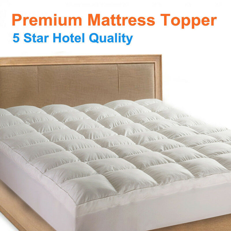 1000gsm luxury pillowtop mattress topper protector 5 star