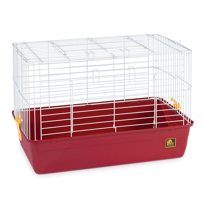 Prevue animal tubby extra small red plastic pet cage with for Wire guinea pig cages