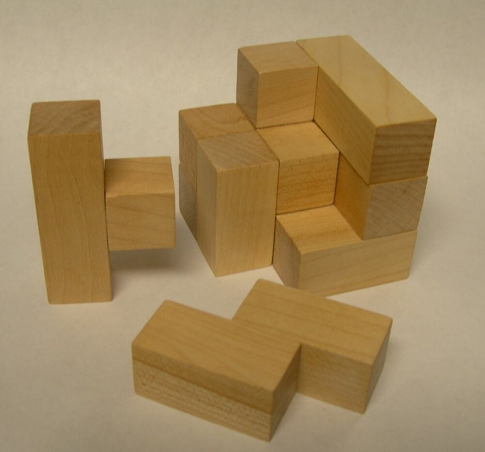Maple Landmark Wooden Soma Cube Puzzle | eBay