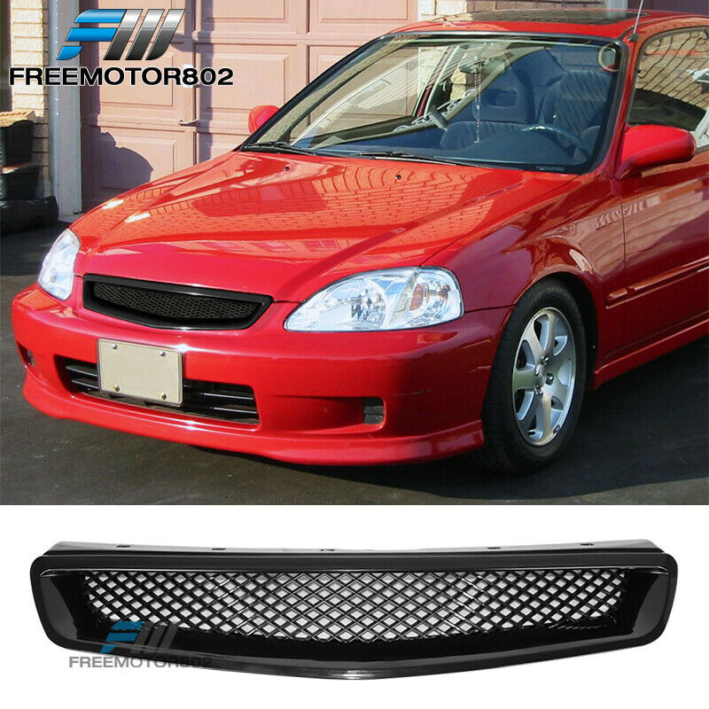 99 00 honda civic ek cx dx ex hx lx jdm t r front hood grill grille abs 842961149264 ebay. Black Bedroom Furniture Sets. Home Design Ideas