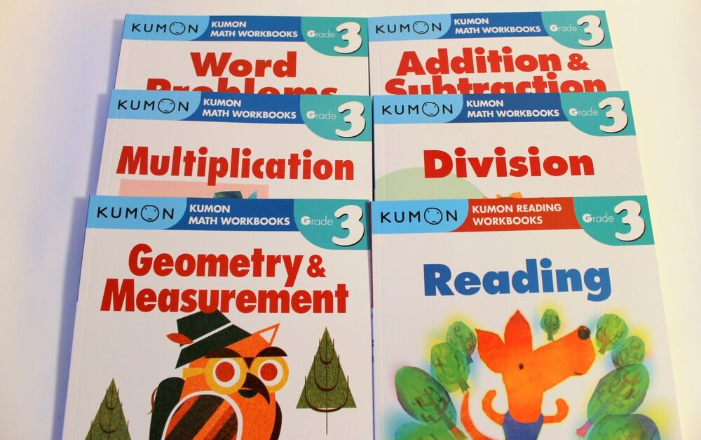 KUMON Workbooks Grade 3 Set: Math + Reading (6 books) --FREE ...
