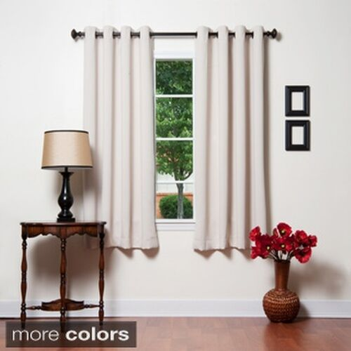 Aurora Home Grommet Top Thermal Insulated 72 inch Blackout Curtain ...