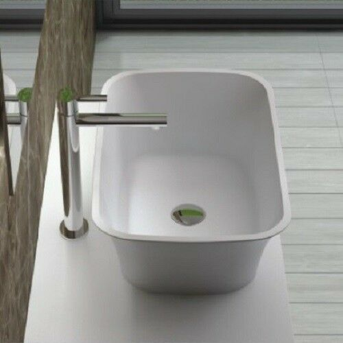Solid Stone Sink : Countertop Solid Surface Stone Resin Glossy Bathroom Sink 23 x 14 - CW ...