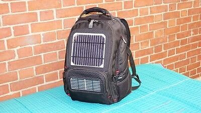 solar bookbag camping gear with battery ebay. Black Bedroom Furniture Sets. Home Design Ideas