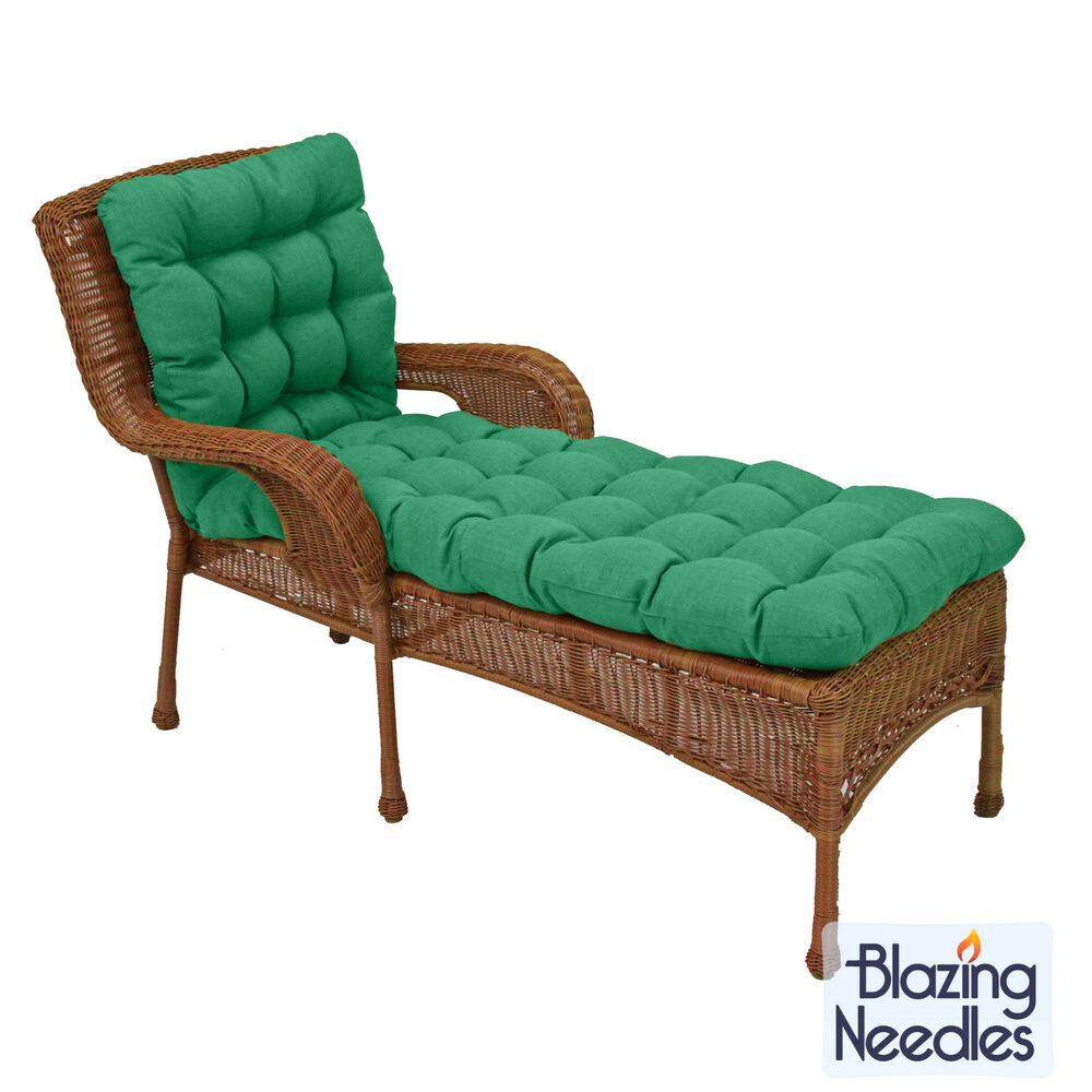 Blazing needles 74 inch spun poly chaise lounge outdoor for Chaise lounge cushion covers outdoor
