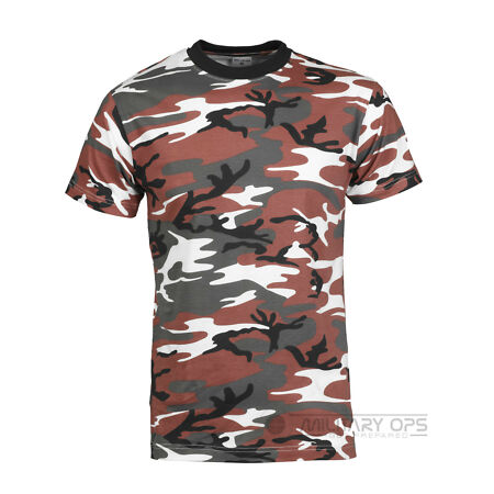 img-MILITARY RED CAMO URBAN CAMOUFLAGE CAMO T SHIRT US ARMY 100% COTTON