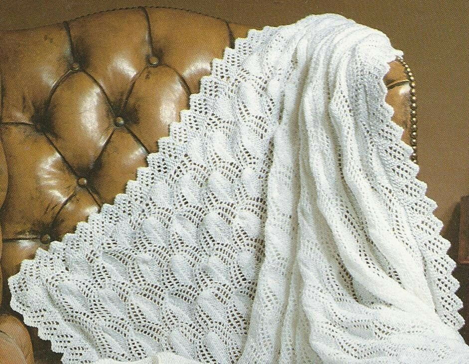 VINTAGE KNITTING PATTERN FOR BABY / BABY'S GORGEOUS SHAWL ...