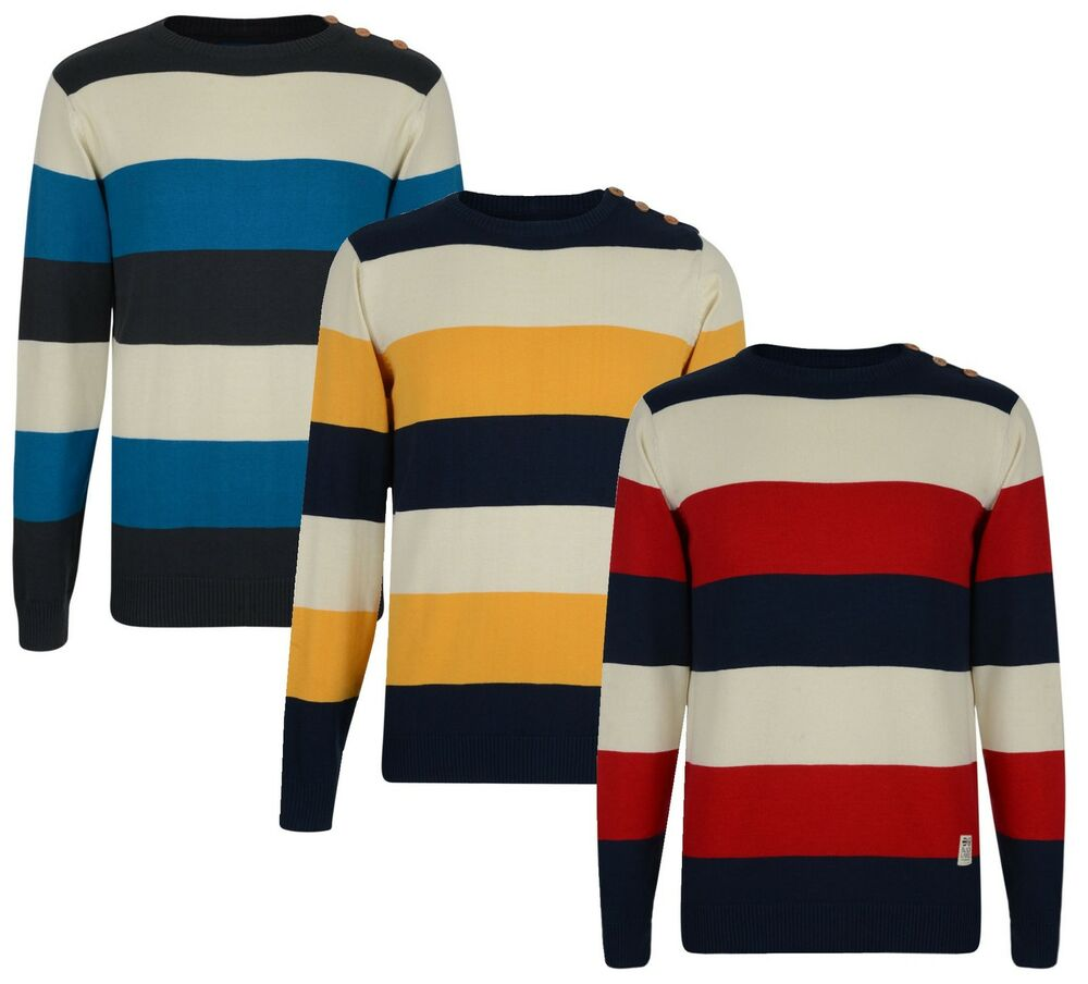 For the guys, a striped sweater is a great go-to for spring and fall wardrobes. Check out this quintessential piece from favorites like IZOD and Nautica in classic styles—crewneck, V .
