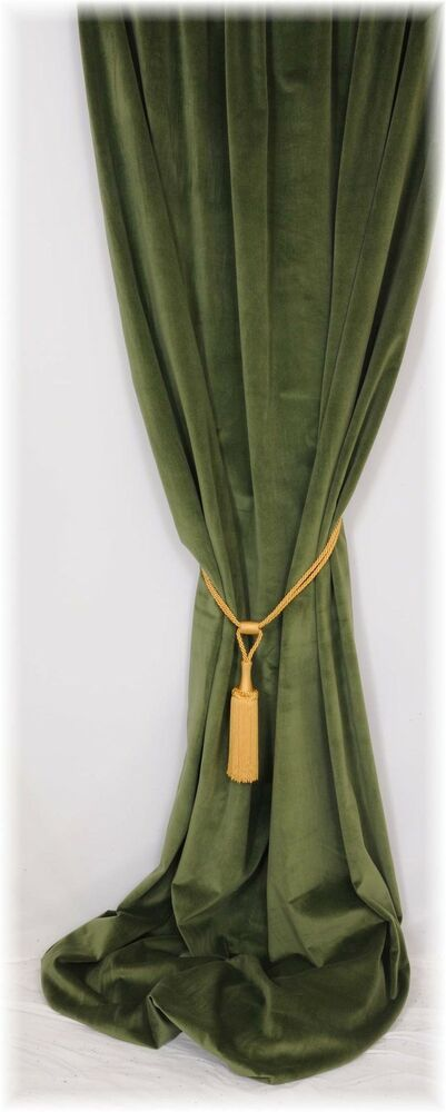 Beautiful Forest Green Velvet Thermal Door Curtain Up To
