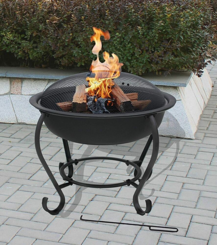 FLORENCE Fire Pit Barbeque Outdoor Patio Heating Garden Heater BBQ Rain Co