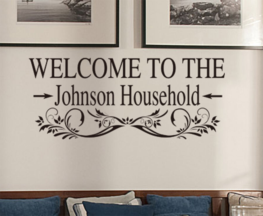 to your household home wall art quote vinyl sticker decal ebay