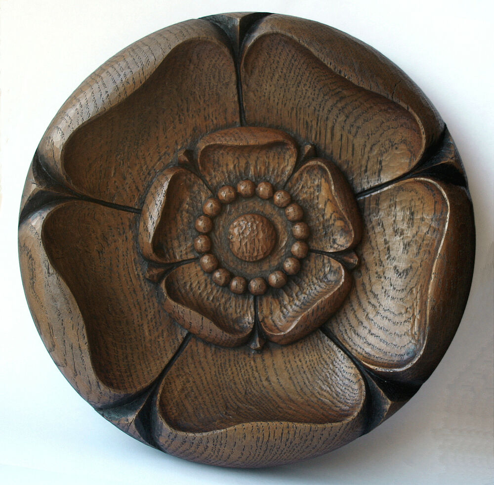 Yorkshire rose carving tudor ornament traditional york