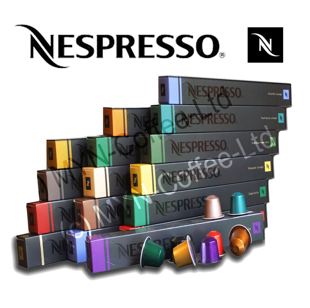 50 ORIGINAL NESPRESSO CAPSULES ~ COFFEE MACHINE PODS  -> Nespresso Compatible Pods