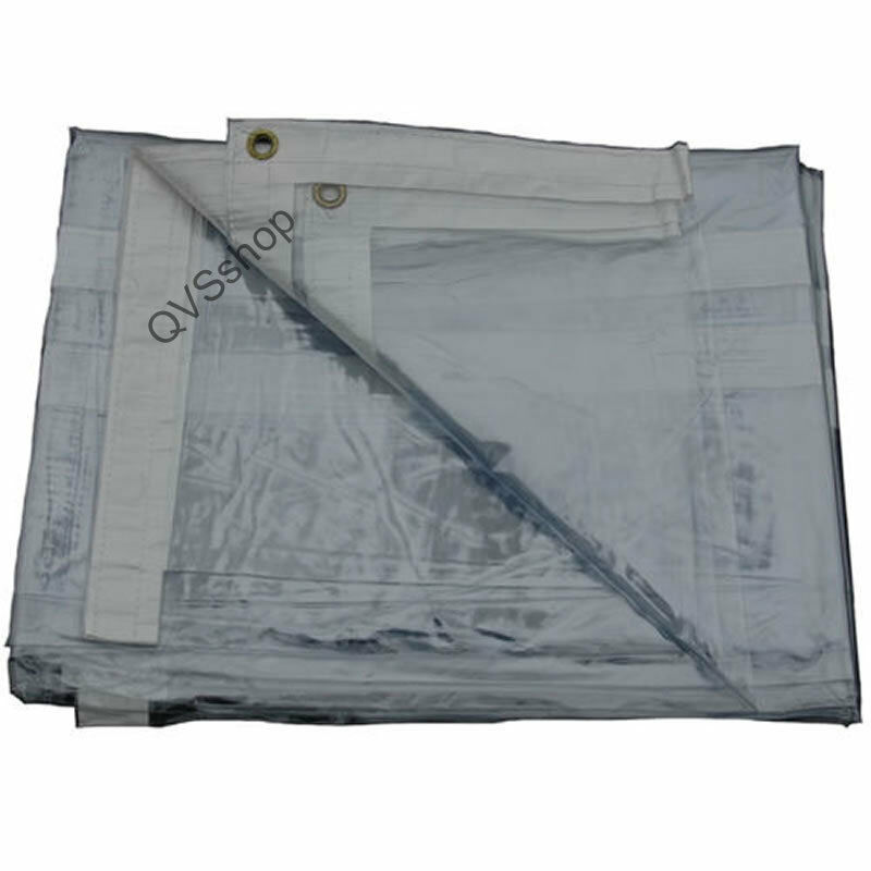 Heavy Duty 2m X 3m Clear Waterproof Tarpaulin Cover Market