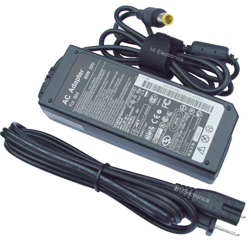 Ac Adapter Power Cord Battery Charger 90w Ibm Lenovo