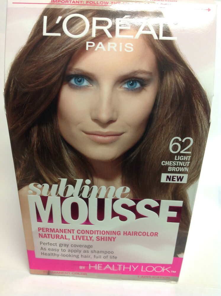 Loreal Sublime Mousse By Healthy Look Hair Color Light Chestnut