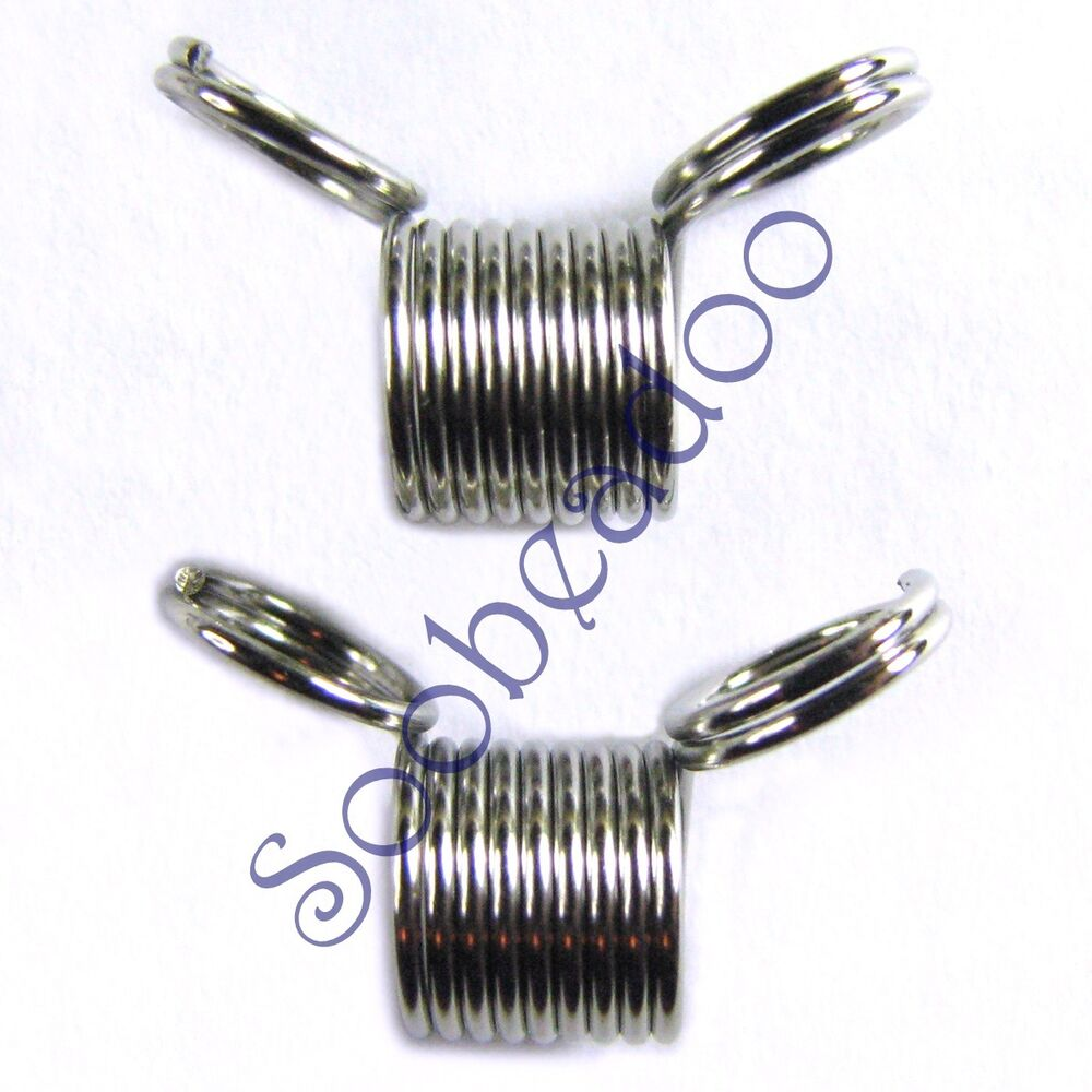 20 mini bead stoppers beading wire string tool stainless