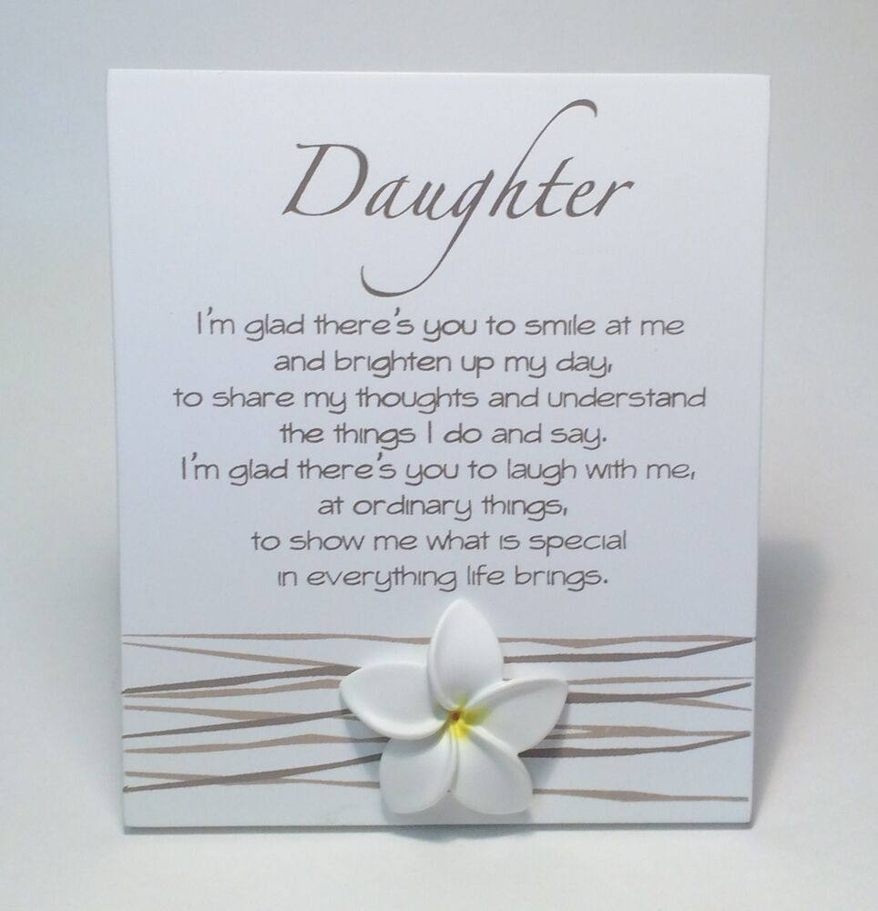 Splosh Daughter Poem Christmas Birthday Gift Ideas For Her Daughters WF029