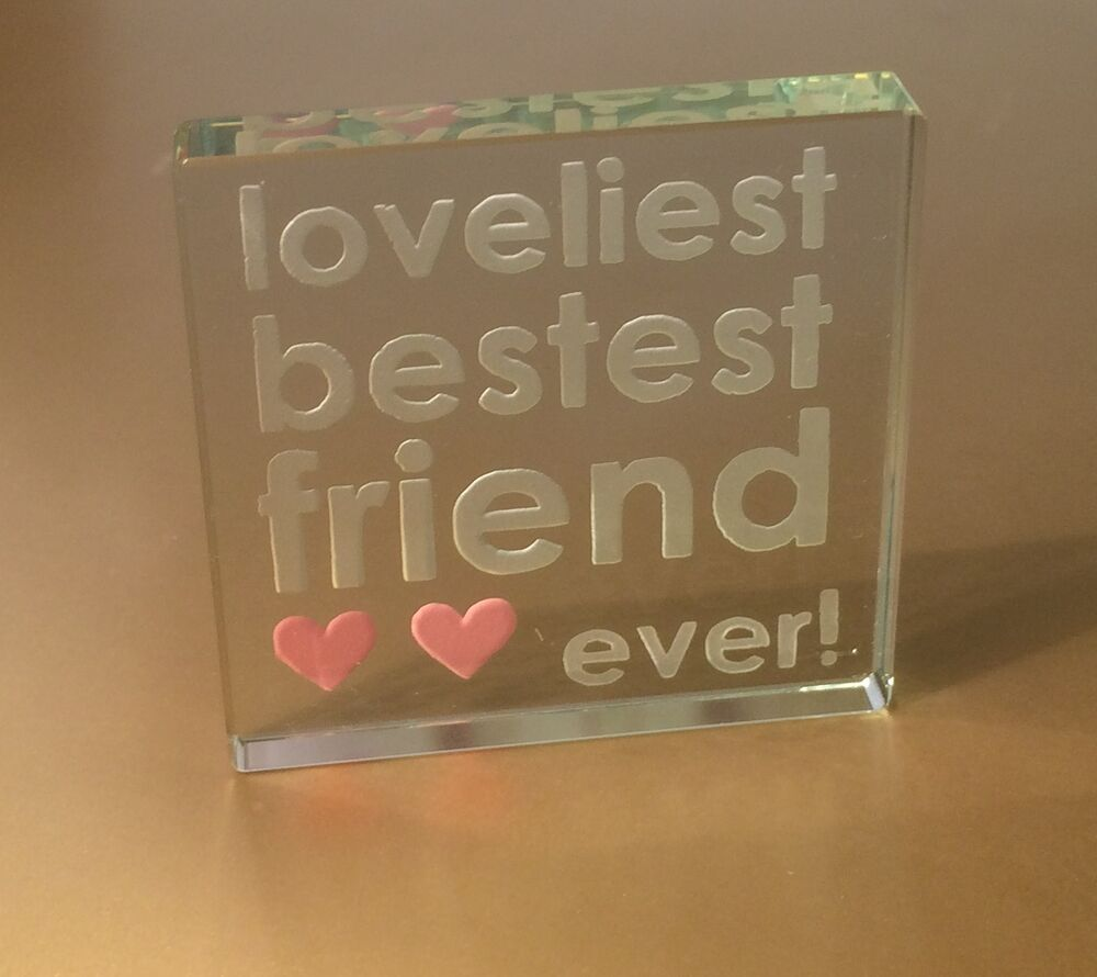 Best Christmas Gift Ideas: Spaceform Best Friend Glass Token Friendship Christmas