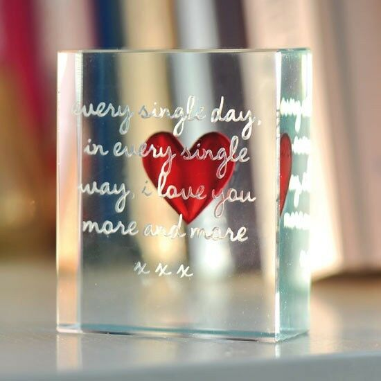 Every Single Day Glass Token Romantic Valentines Love Gift