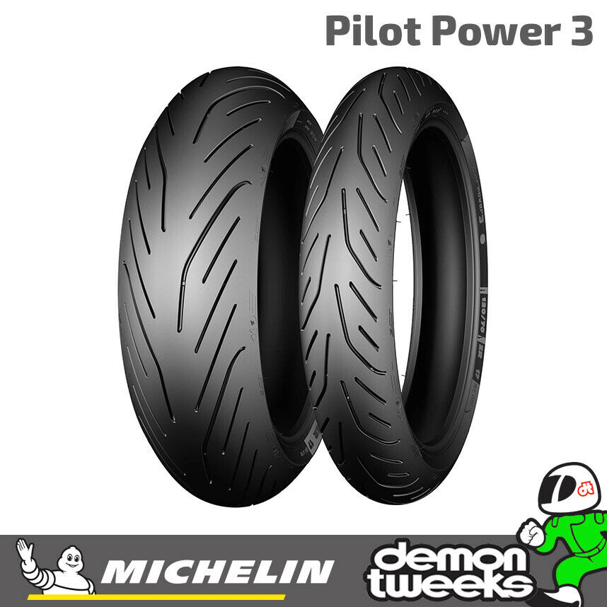 michelin pilot power 3 sport road motorcycle bike tyre 2ct technology ebay. Black Bedroom Furniture Sets. Home Design Ideas