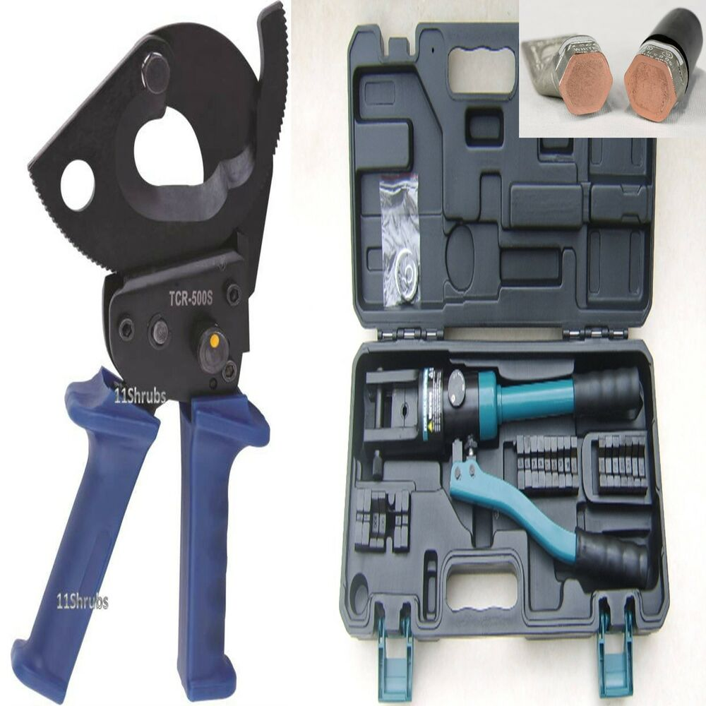 500mm ratchet cable cutter 10 300mm hydraulic crimping crimpers ferrule tool ebay. Black Bedroom Furniture Sets. Home Design Ideas
