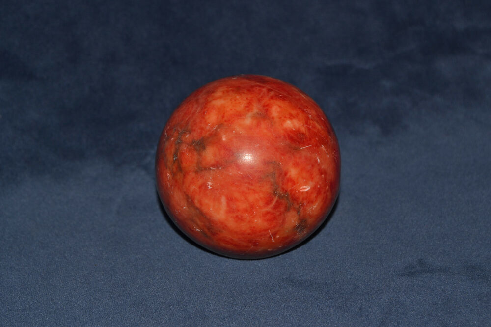 Red Alabaster Stone : Vintage italian alabaster marble paperweight red ebay