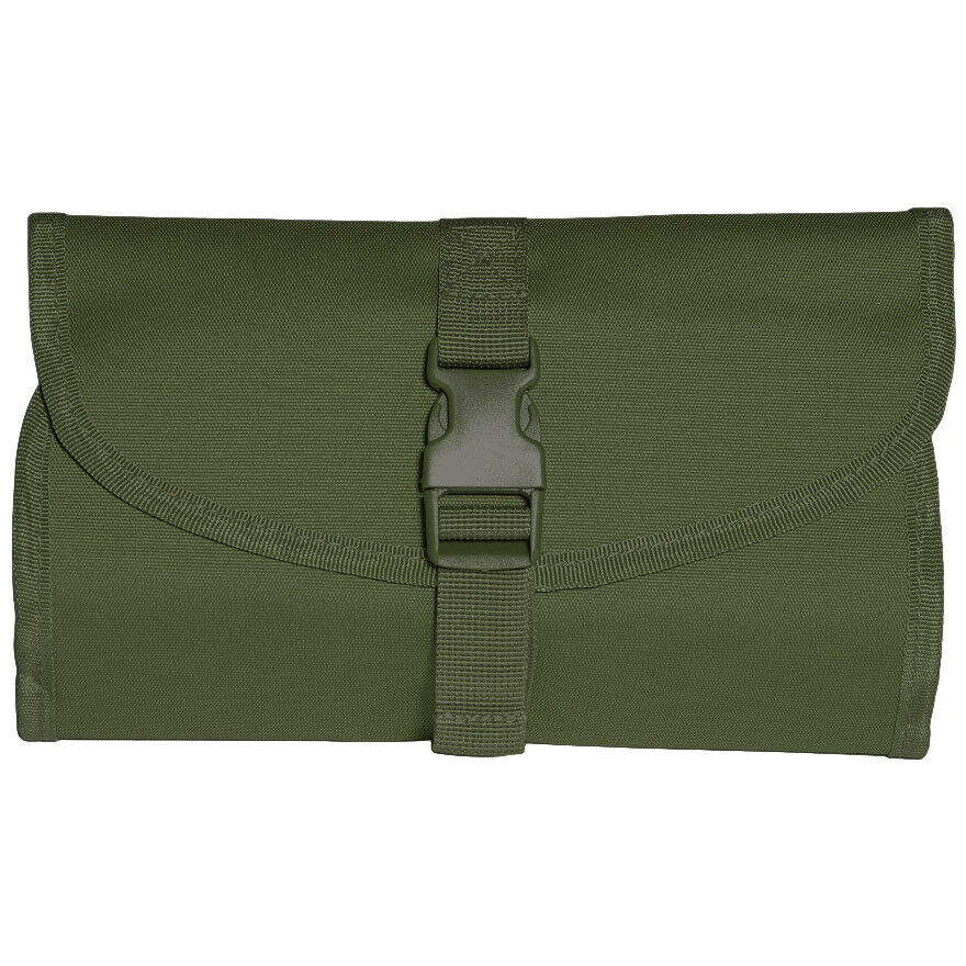 f850019d31 Details about Mil-Tec British Military Foldable Toiletry Bag With Hanging  Hook   Mirror Olive