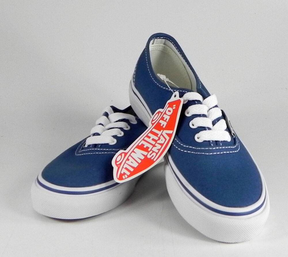 vans authentic navy blue shoes classic kids youth girls