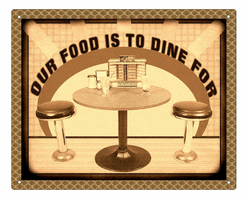diner 50 39 s sign deli restaurant fast food retro plaque kitchen wall decor art ebay. Black Bedroom Furniture Sets. Home Design Ideas