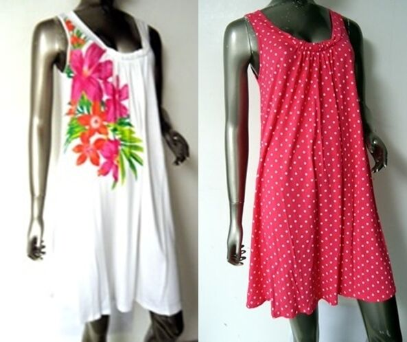 mamps cute jersey summer dress tunic beach cover up pink or