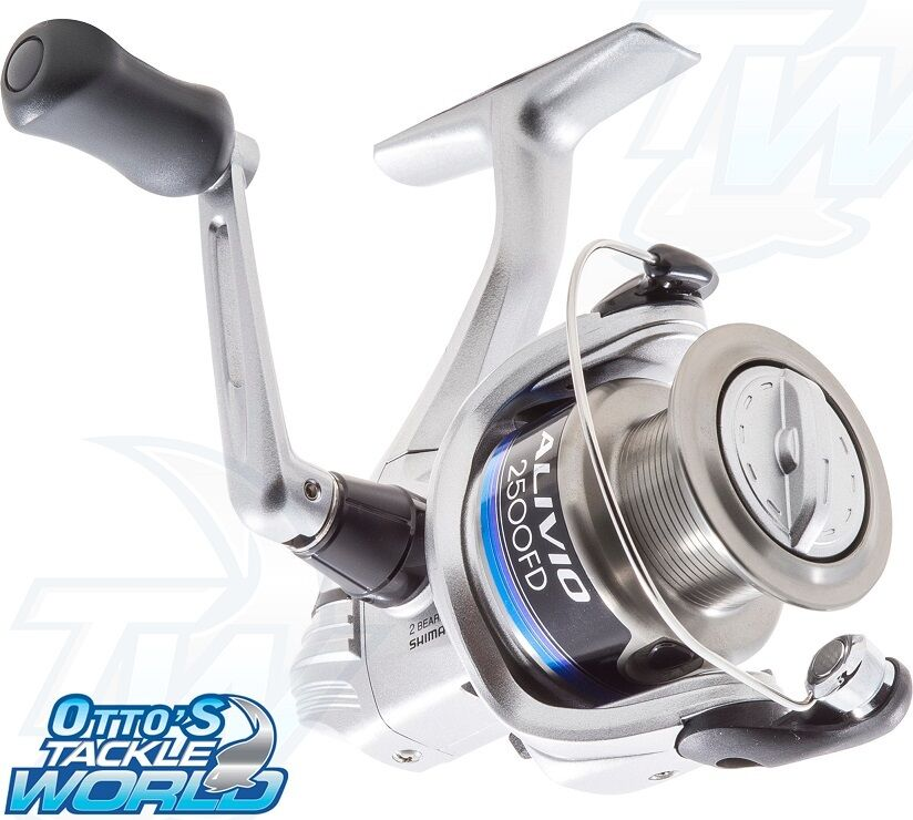 Shimano alivio 2500 fd spinning fishing reel brand new for Ebay fishing reels shimano