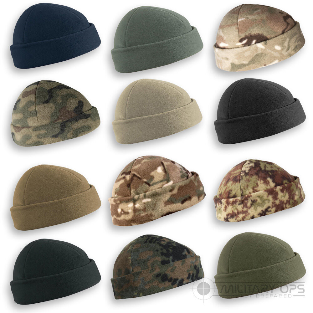 70b2ed5f48f Details about HELIKON ARMY MILITARY TACTICAL BEANIE HAT FIELD WATCH CAP  DOCKER CAMO FLEECE