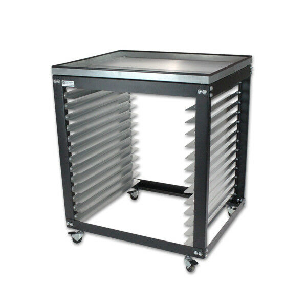 Screen Storage Racks : Screen printing shop rack cart storage holder