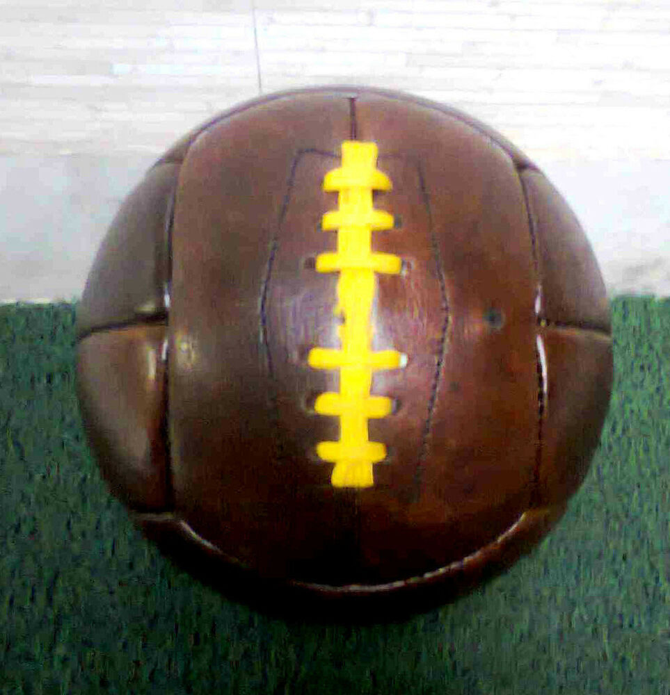 wc 1950 vintage style genuine leather soccer ball 12 panels size 5 ebay. Black Bedroom Furniture Sets. Home Design Ideas
