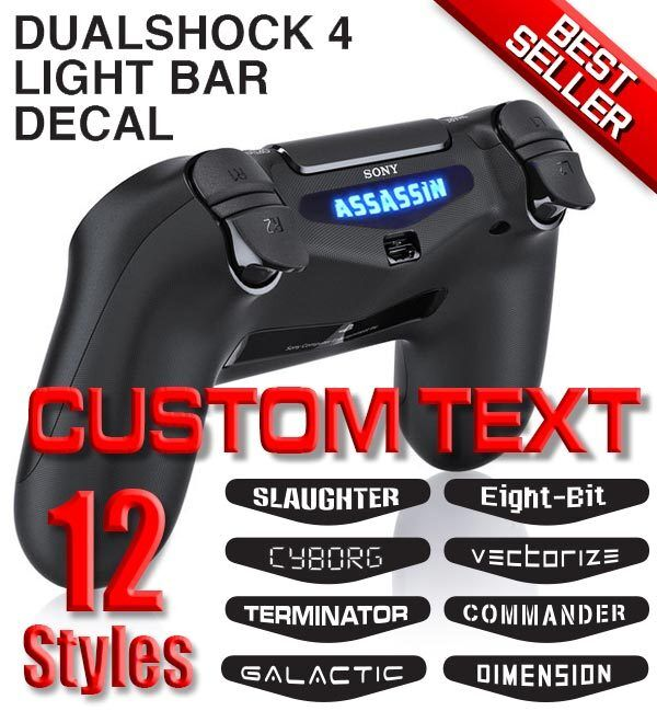 New Dualshock 4 Light Bar Decal Ps4 Lightbar Customize
