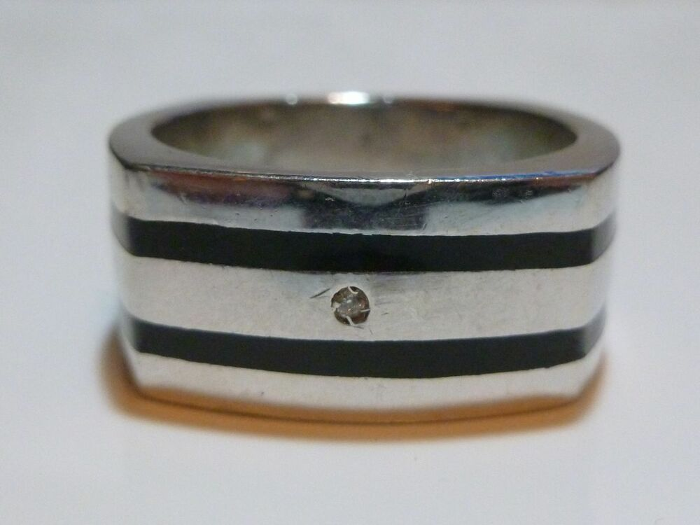 Gold And Onyx Wedding Ring