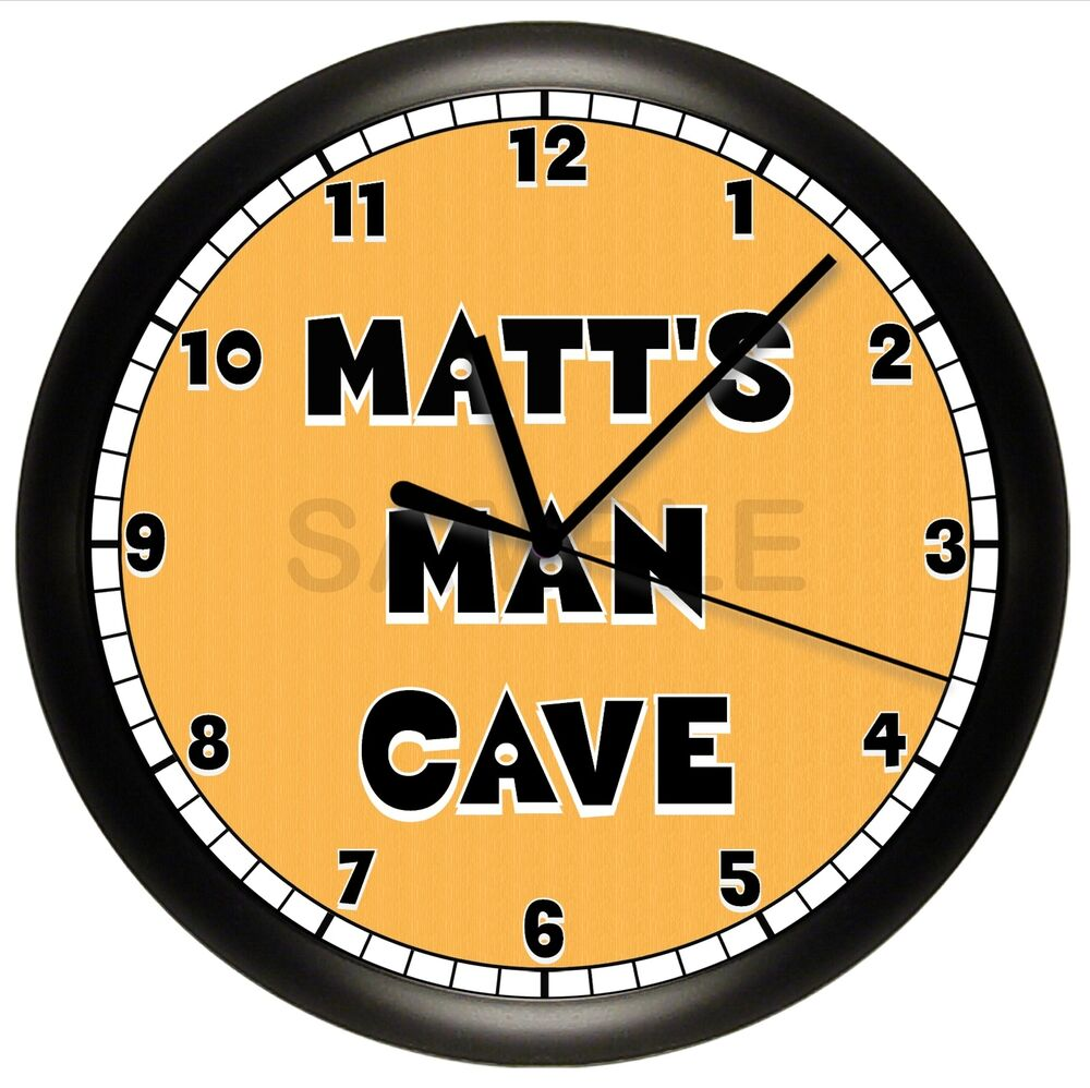 man cave wall clock personalized pittsburgh steelers. Black Bedroom Furniture Sets. Home Design Ideas