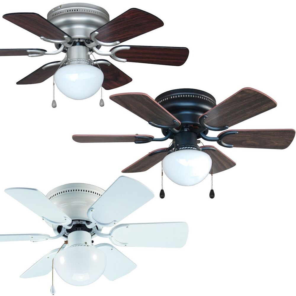 30 inch flush mount hugger ceiling fan w light kit satin. Black Bedroom Furniture Sets. Home Design Ideas