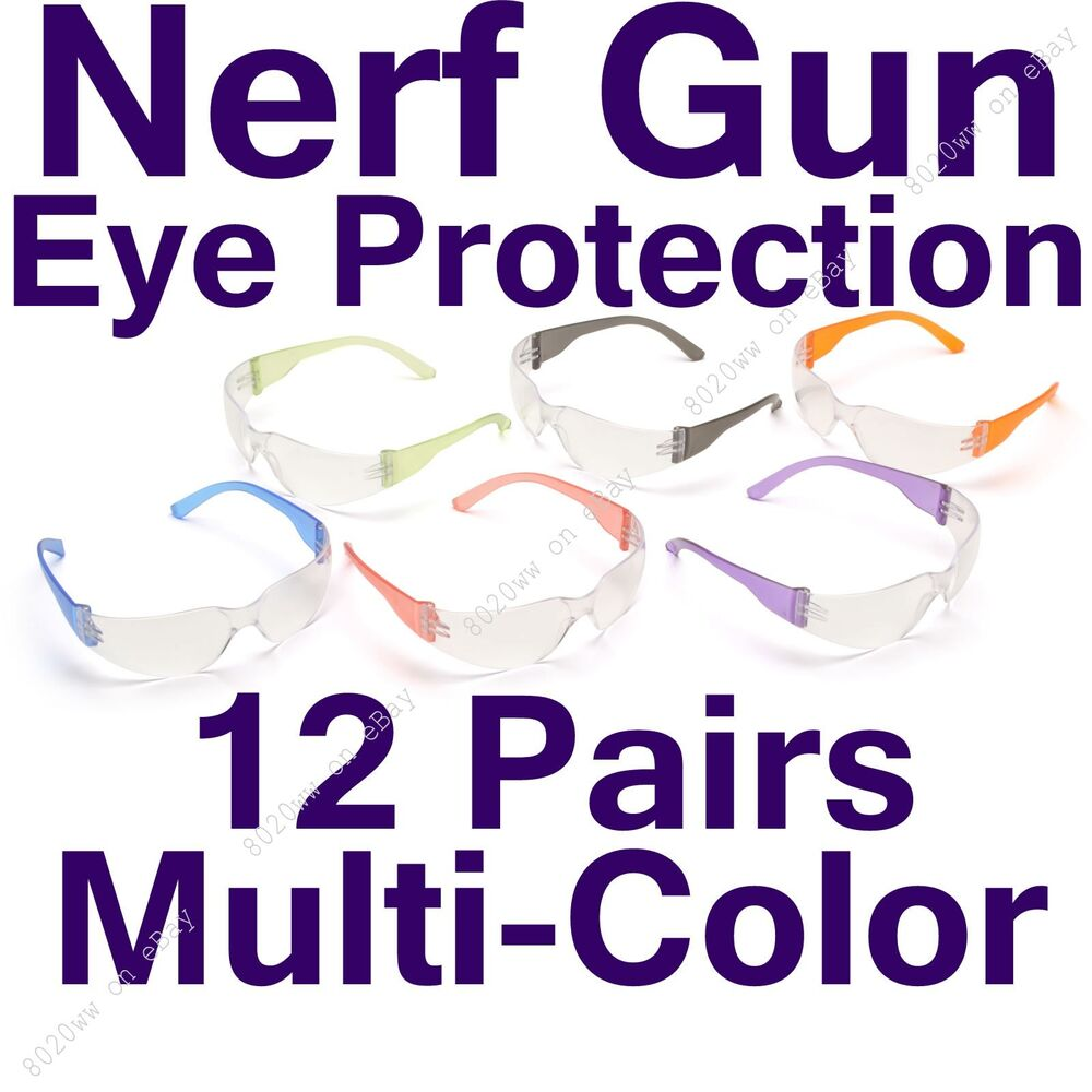 nerf eye protection 12 pack nerf protective glasses