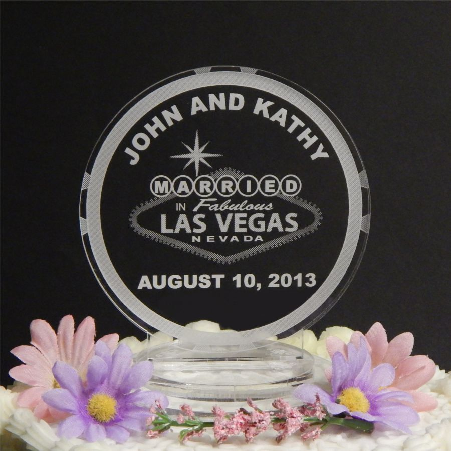 Saved By The Bell Wedding In Las Vegas Watch Online: Personalized Custom Wedding Cake Top Topper Acrylic Las