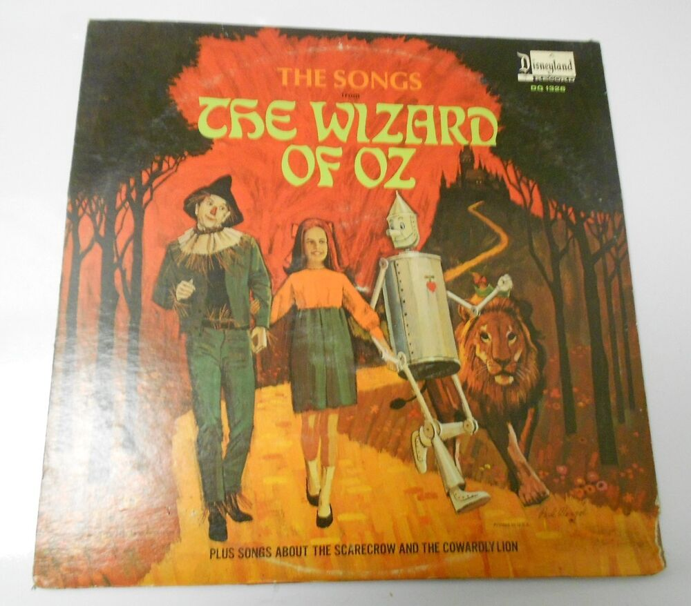 1969 The Songs From The Wizard Of Oz Lp Disneyland Dq