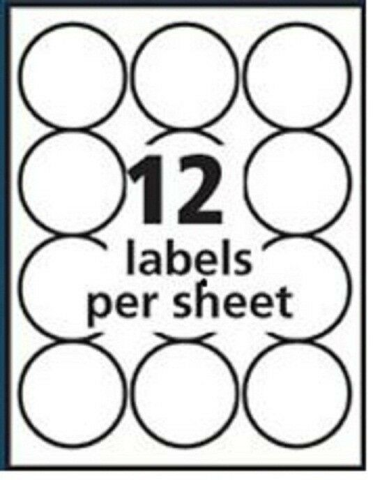 300 round 2 5 labels same as avery 5294 white matte for for Avery 2 round label template