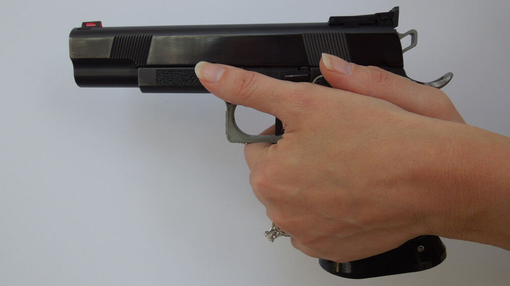 Decal Frame Grip Tape For Recoil Reduction On 1911 Style