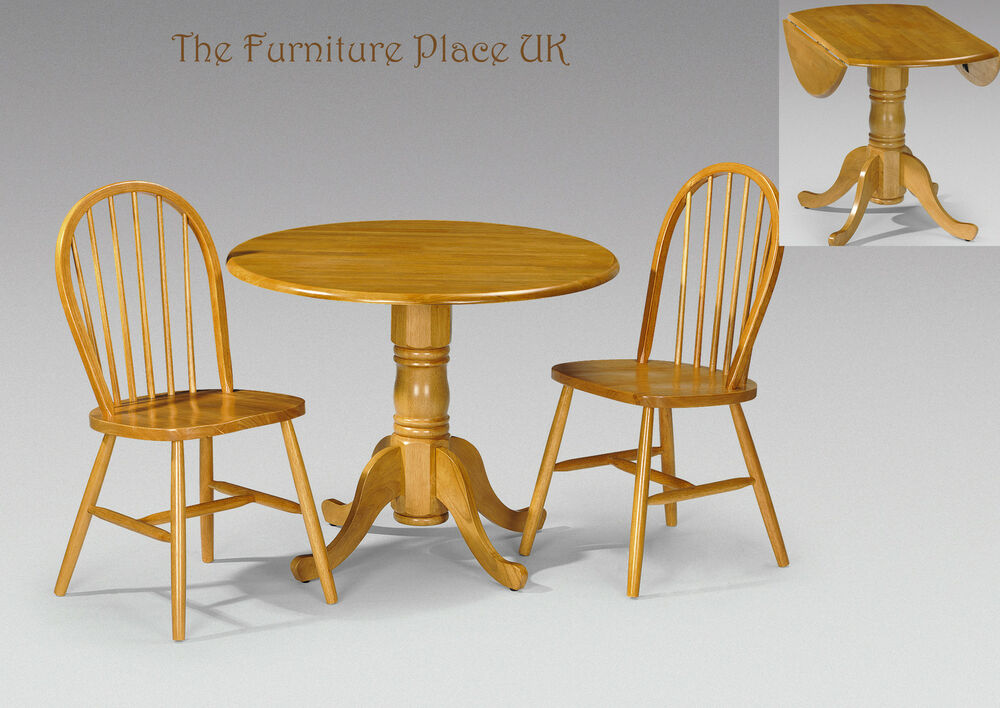 Dundee solid wood drop leaf table dining set in honey pine for Wood dining sets with leaf